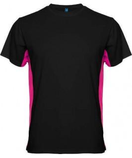 Camiseta negro con fucsia