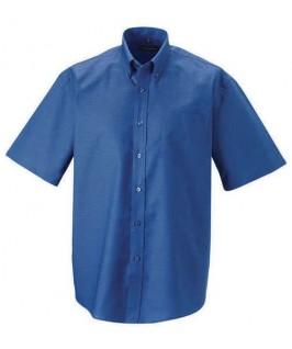 Camisa manga corta azul eléctrico