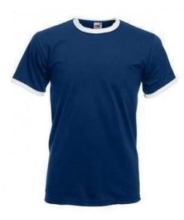 Camiseta ringer azul marino con blanco