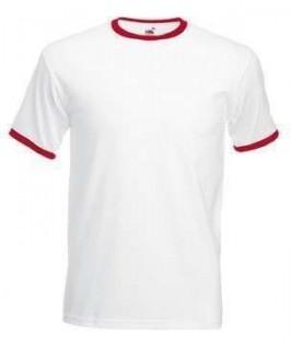 Camiseta ringer blanco con rojo