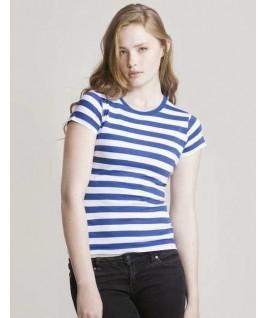 Camiseta a rayas azul con blanco