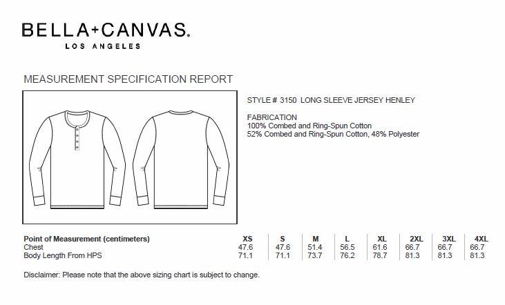 409fc2ed448b6 Encuentra tu Camiseta Manga Larga Hombre Henley de Bella + Canvas en ...